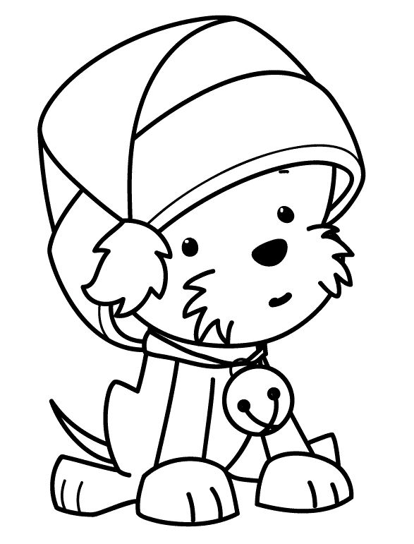Christmas Puppy Coloring Pages At Getdrawings Free Download