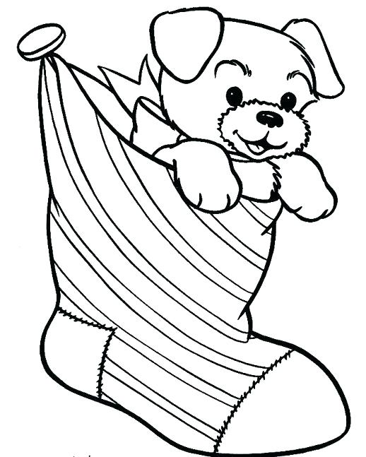 518x647 Christmas Puppy Coloring Pages Puppy Coloring Pages A Puppy Puts