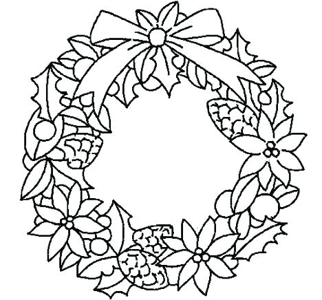 468x436 Christmas Wreath Coloring Pages Wreath Coloring Pages Wreath