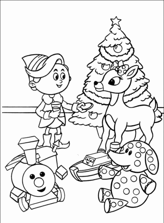 550x749 Awesome Of Christmas Reindeer Coloring Pages For Kids