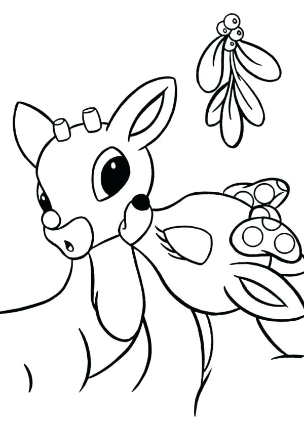600x840 Christmas Reindeer Coloring Pages Reindeer Merry Coloring Page