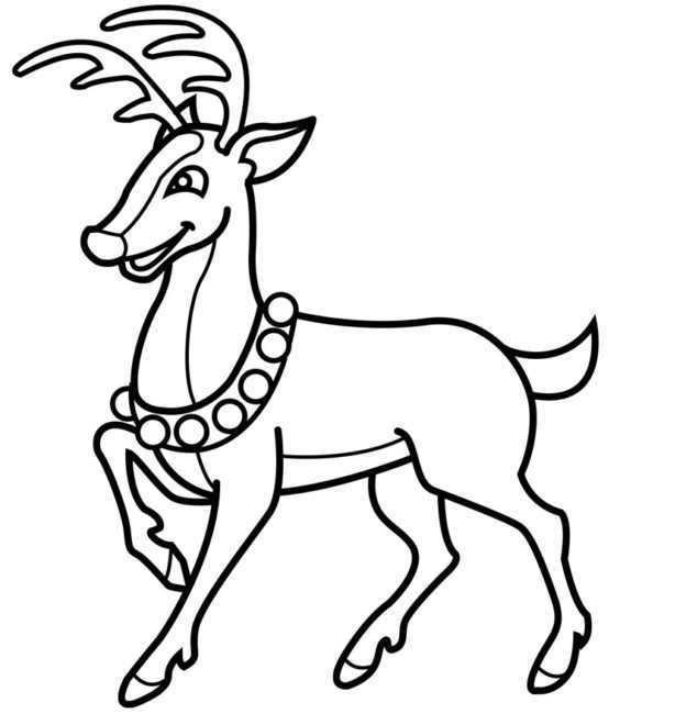624x650 Christmas Reindeer Coloring Pages Nice Coloring Pages For Kids