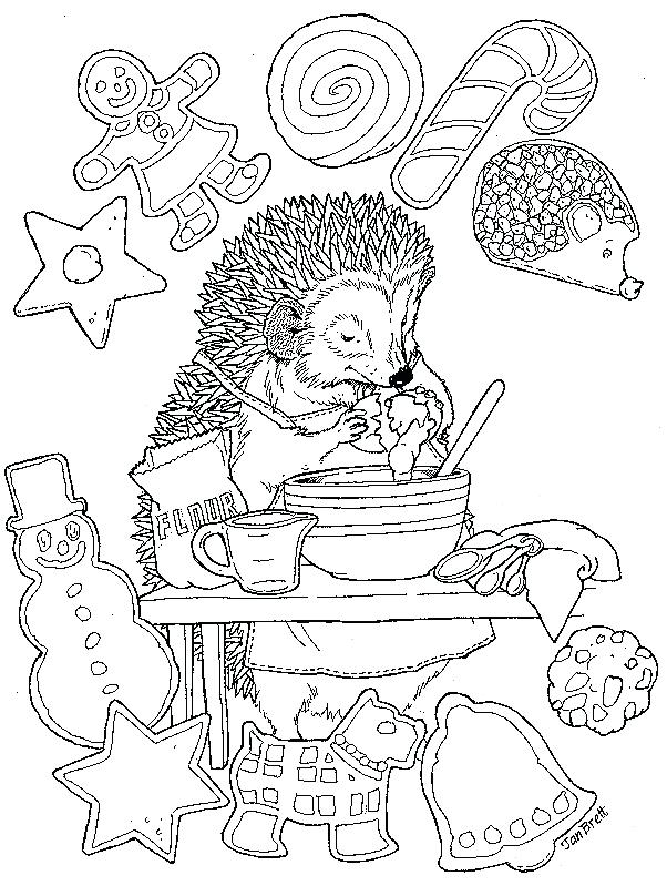 602x808 Jan Brett Coloring Pages Coloring Pages Cookies Free Jan Brett