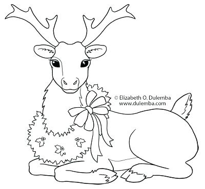 400x370 Christmas Reindeer Coloring Pages