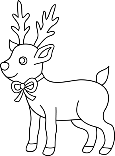 404x550 Christmas Reindeer Coloring Page