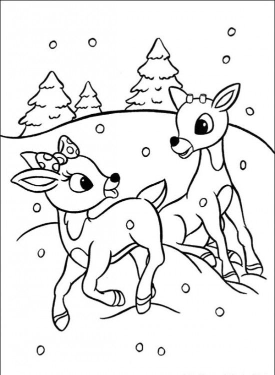 550x749 Rudolph Coloring Pages Rudolph The Red Nosed Christmas Reindeer