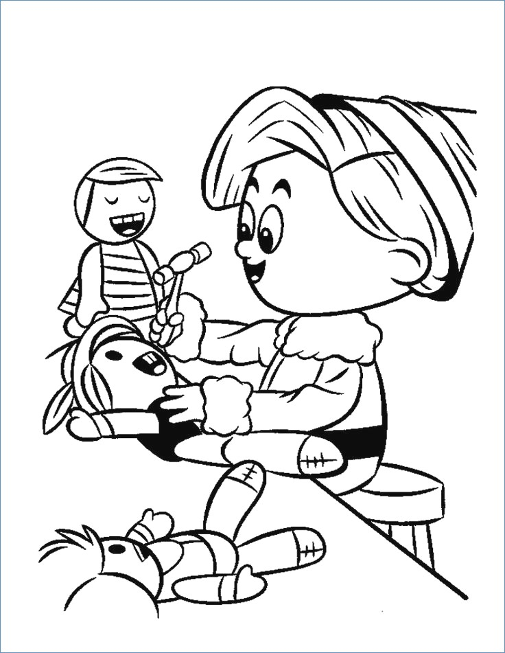 736x951 Rudolph Reindeer Friends And Christmas Tree Coloring Page