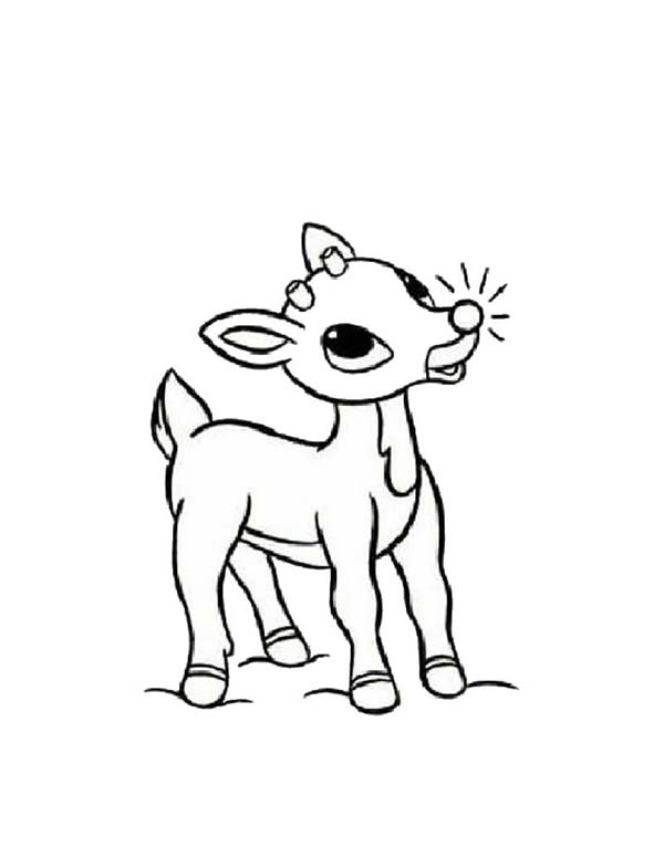 Christmas Rudolph Coloring Pages At Getdrawings Com Free For