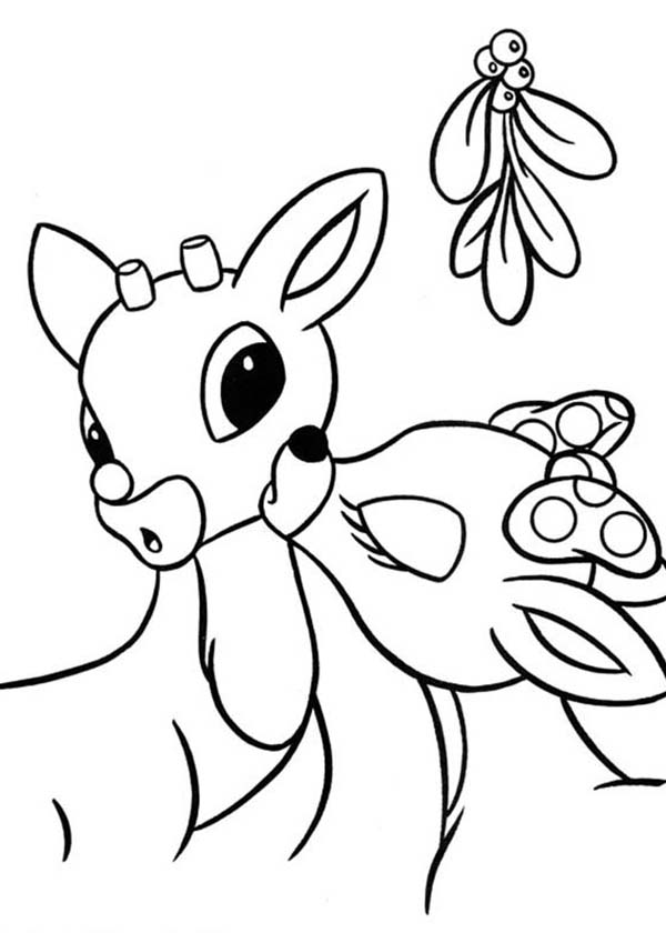 600x840 Clarice Kiss Rudolph The Red Nosed Reindeer Coloring Page Color Luna