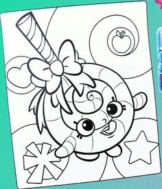 Christmas Shopkins Coloring Pages