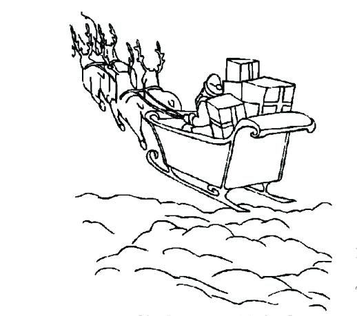 518x459 Sleigh Coloring Pages Printable Santa Sleigh Coloring Page Sleigh