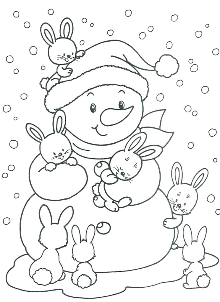 744x1024 Snow Coloring Page Snow Coloring Pages Page Free Winter Snowman