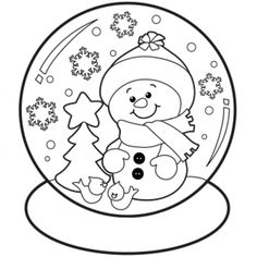 236x236 Free Christmas Printable Coloring Pages Snowman, Tree, Bells