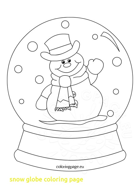 581x803 Snow Globe Coloring Page With Snowglobe Clipart Black And White