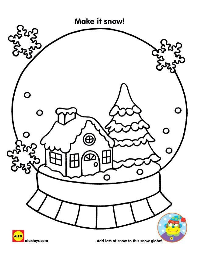 Christmas Snow Globe Coloring Pages At Getdrawings Com