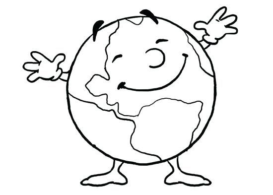 550x393 Globe Coloring Page Globe Coloring Page Earth Coloring Pages