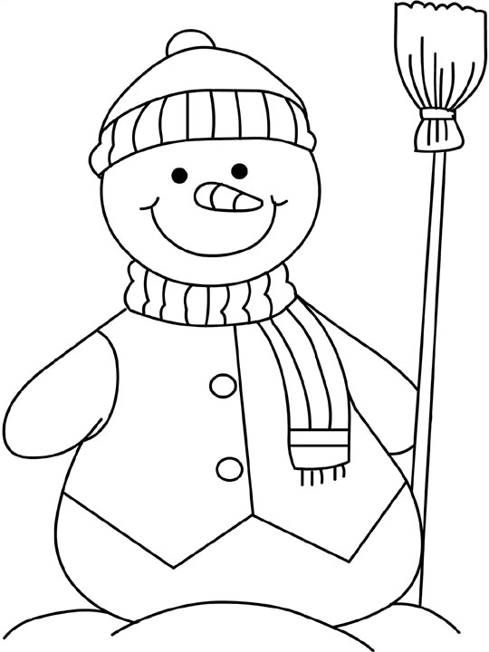 Christmas Snowman Coloring Pages At Getdrawings Com Free For