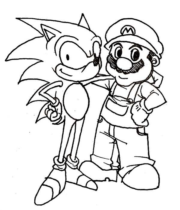 Christmas Sonic Coloring Pages at GetDrawings.com | Free for ...