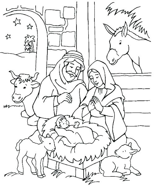 507x600 Coloring Pages Nativity