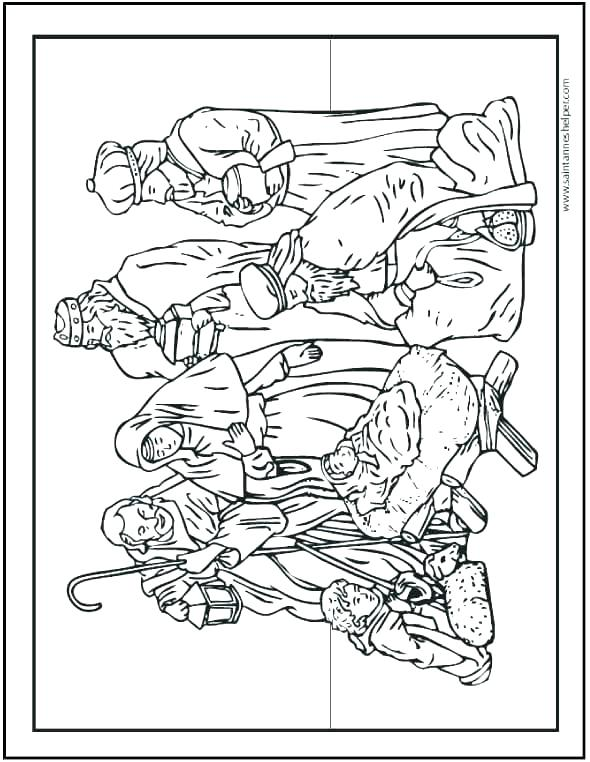 590x762 Manger Coloring Page Free Nativity Coloring Sheet Nativity Scene