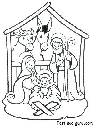 314x413 Manger Coloring Page Manger Coloring Page Nativity Scene Coloring