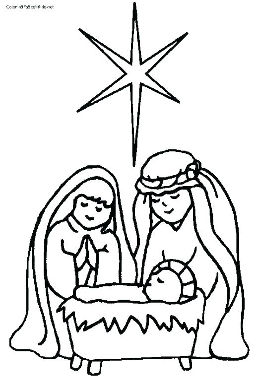520x788 Manger Coloring Page Nativity Scene Coloring Pages Manger Scene