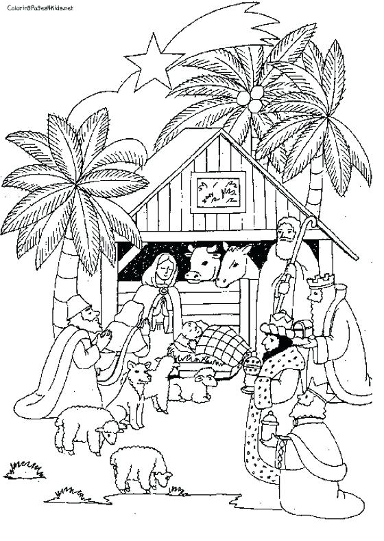 560x787 Manger Coloring Pages Baby In Manger Coloring Page Free Printable