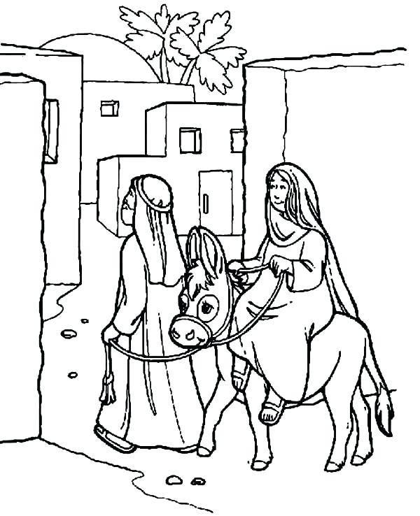 600x738 Stable Coloring Page Printable Nativity Stable Coloring Page