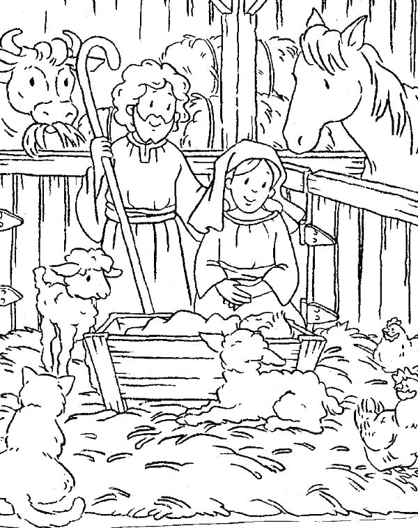 600x757 Christmas Scene Coloring Pages X Previous Image Next Image