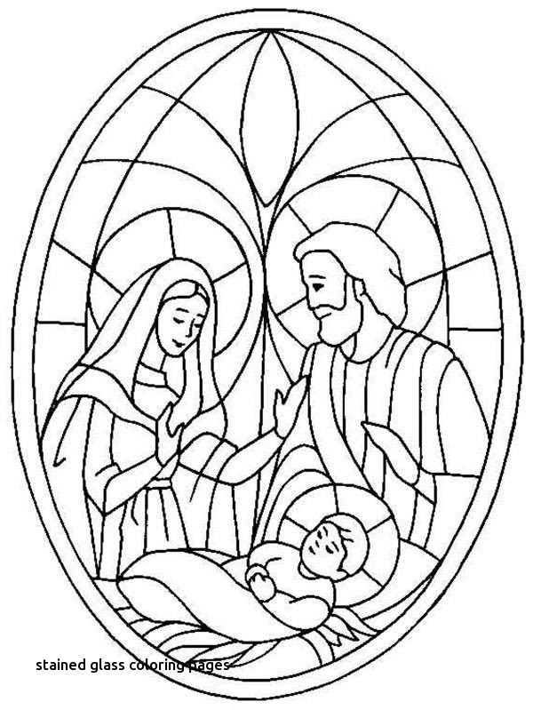 Christmas Stained Glass Coloring Pages