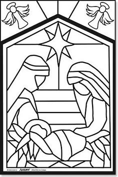 236x352 Nativity Coloring Page