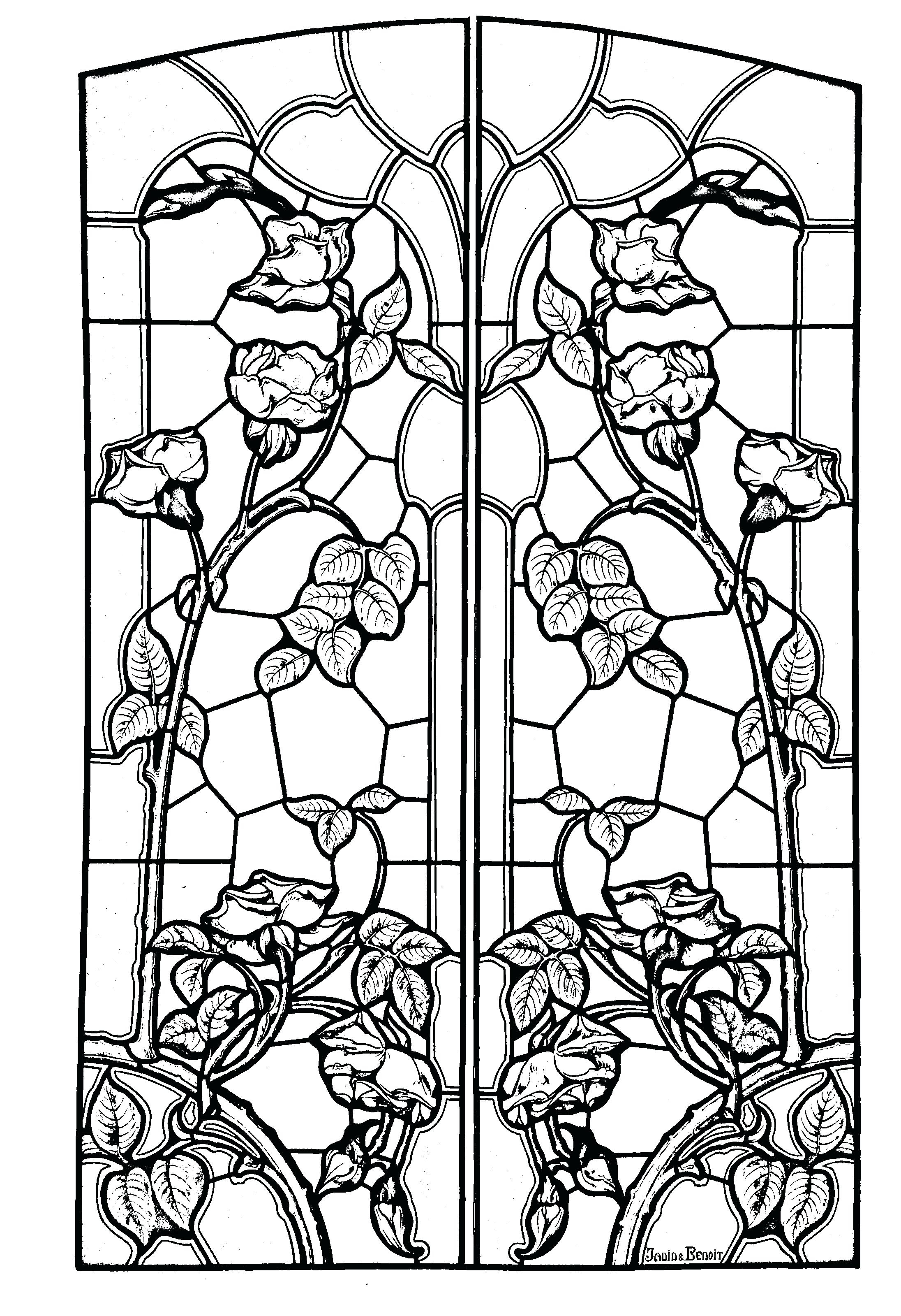 2192x3199 Plush Printable Stained Glass Coloring Pages Christmas Printable