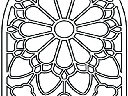 440x330 Stained Glass Coloring Pages Christmas Printable Coloring Glass