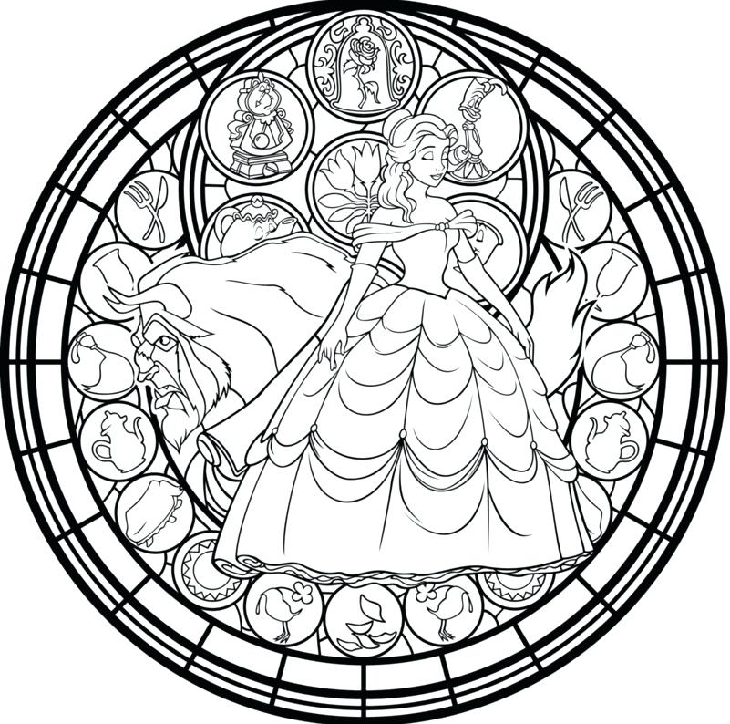 801x794 Stained Glass Coloring Pages Free Printable Christmas Religious