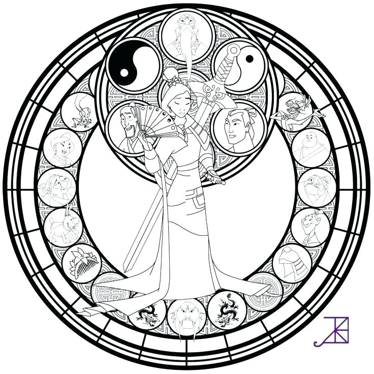 736x736 Stained Glass Coloring Pages Plus Beauty And The Beast Stained