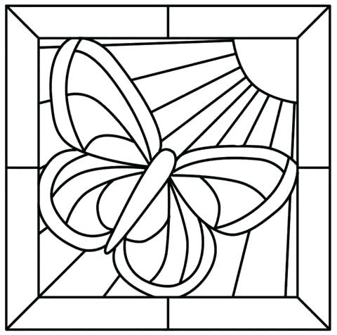 480x476 Stained Glass Coloring Pages Stained Glass Coloring Book Details