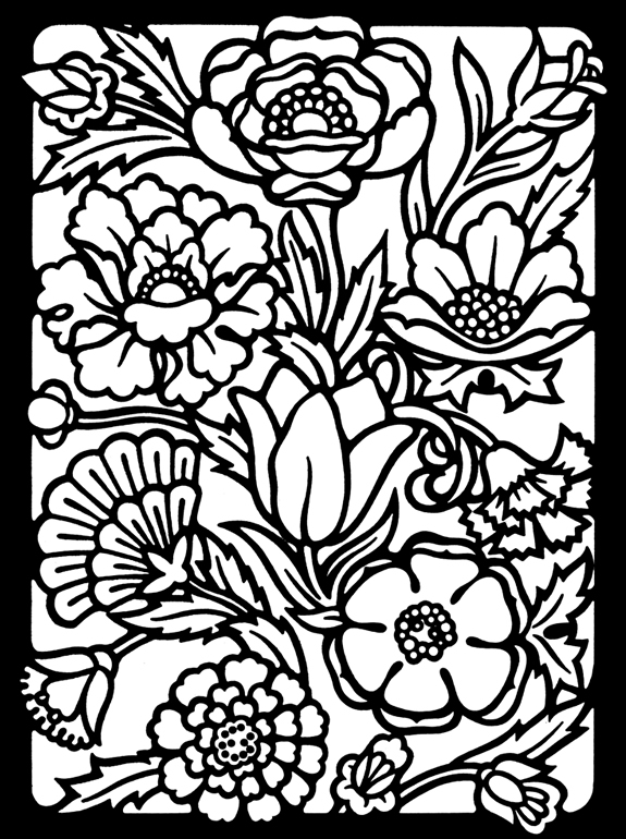 575x770 Stylish Ideas Stained Glass Coloring Pages Christmas
