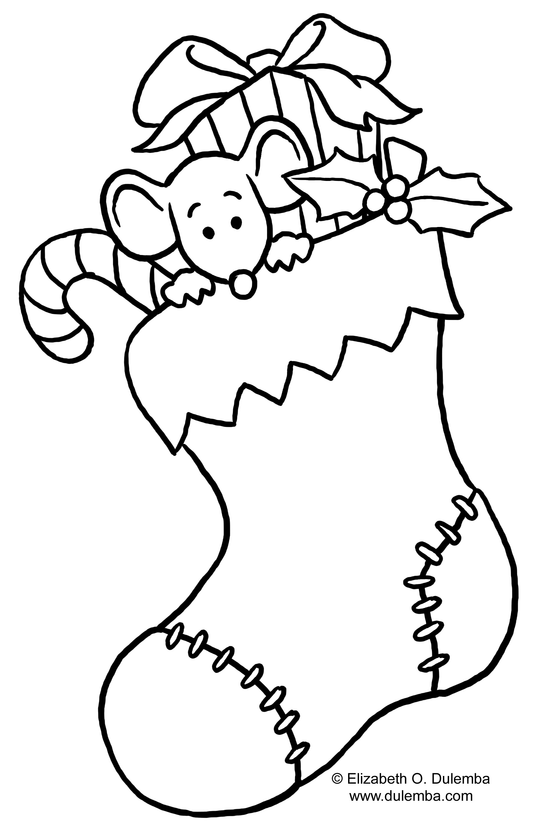 1817x2829 Christmas Stocking Coloring Pages