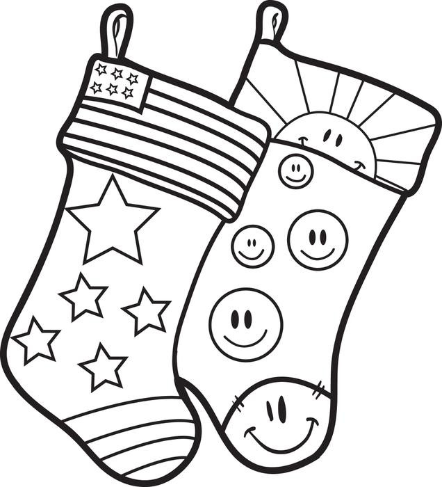 636x700 Christmas Stocking Coloring Pages Best Coloring Pages For Kids