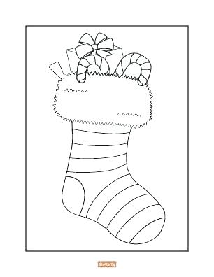306x396 Christmas Stocking Coloring Pages Pattern Stocking Coloring Page