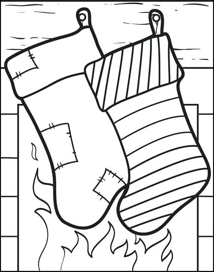 434x550 Christmas Stockings Coloring Pages Stocking Coloring Pages