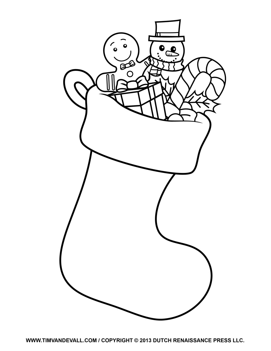 927x1200 Christmas Stockings Coloring Pages Stocking Kids Within