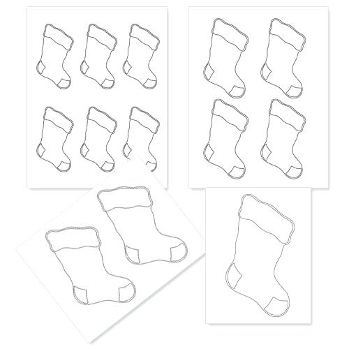 photograph about Printable Stockings known as Xmas Stocking Coloring Internet pages For Small children at GetDrawings