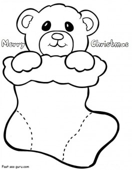 Christmas Stocking Coloring Pages For Kids at GetDrawings.com | Free ...