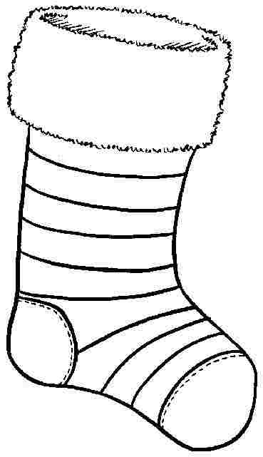 369x641 Stocking Coloring Template Christmas Stocking Coloring Page