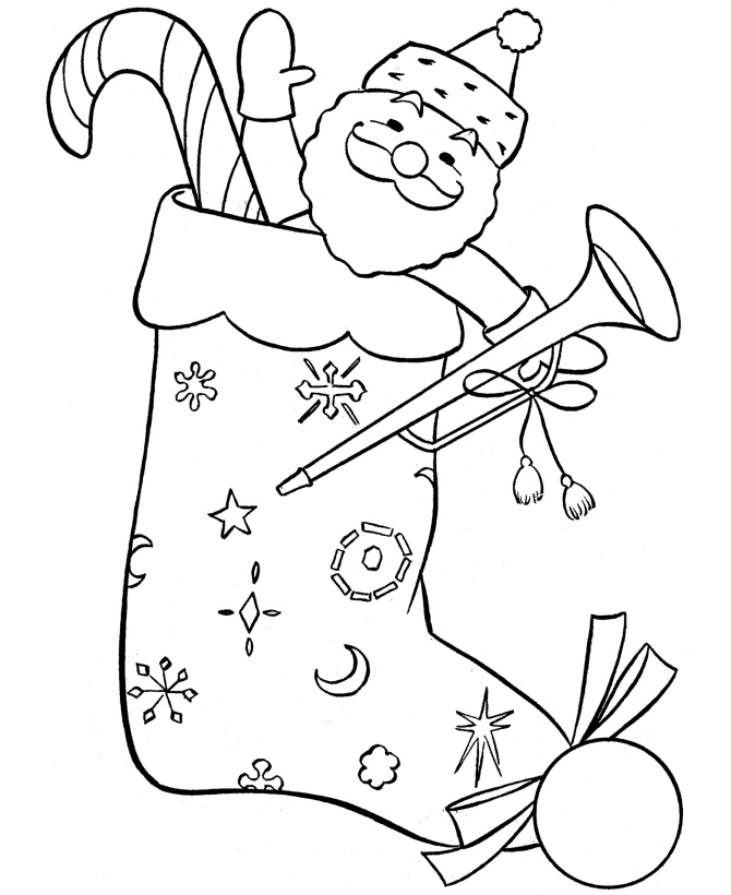 670x820 Christmas Coloring Page For Kids
