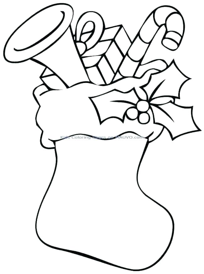649x872 Christmas Stocking Coloring Page Free Stocking Coloring Page Large