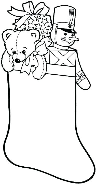 Christmas Stocking Coloring Pages Pattern at GetDrawings ...