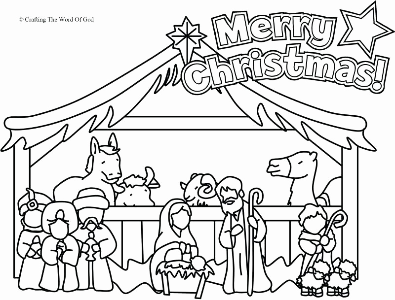 Christmas Story Coloring Pages Printable