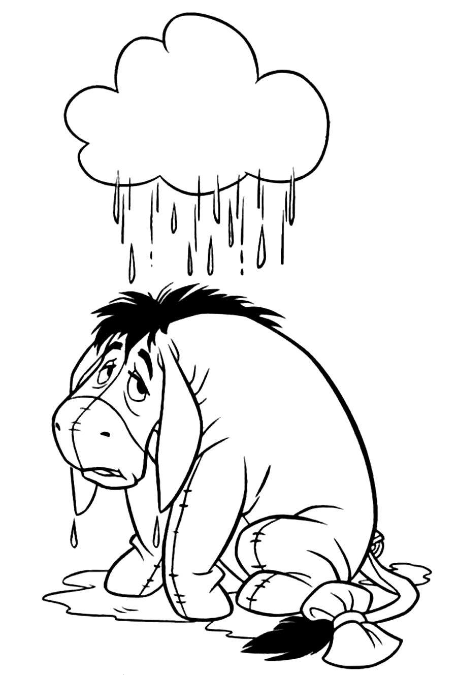 900x1329 Eeyore Coloring Pages Xmas Stuff For Christmas Sam S Art Within